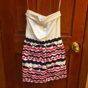 Lilly Pulitzer strapless whale dress